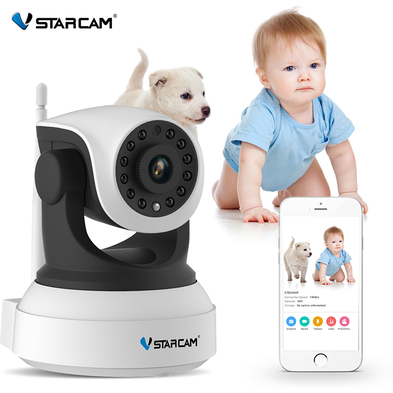 VStarcam 720P Wifi Security IP Camera Onvif IR Night Vision Audio Recording Surveillance Wireless HD IP Camera C7824WIP vstarcam c7824wip free shipping onvif 2 0 720p ip camera wireless wifi cctv ip camera with eye4 app indoor pan