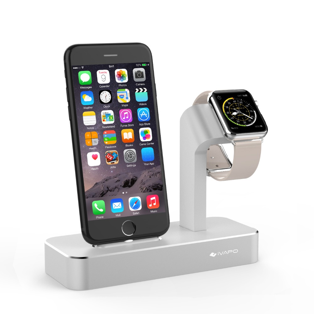 save off cc520 61adb US $36.99 |iVAPO 2 in 1 Charging Dock For Apple Watch Stand Series 3/2  Solid Aluminum Charger Stand Station For iPhone X/8/8 Plus/7/7 Plus-in  Mobile ...