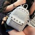 Escuela Aolen BackpackFor Adolescente Niñas Cremallera Impresión Bolsas Mujeres Mochila Bolsa Mochila Mochila Femenino de Cuero Negro