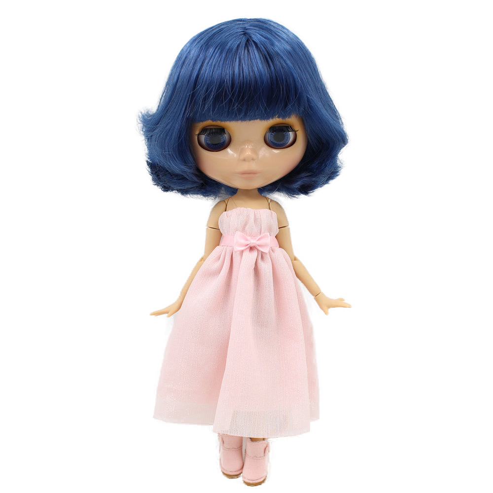 ICY Nude Blyth Doll Serires No BL 6221 Blue hair JOINT body burning skin with big