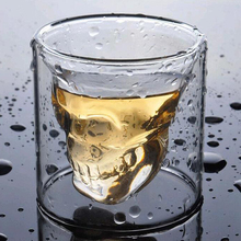 Skull Cup Shot Bar Halloween 3D Party Vodka Whiskey Drink Beer Glass Cocktail Mug Tools Wine glass winebowl D20
