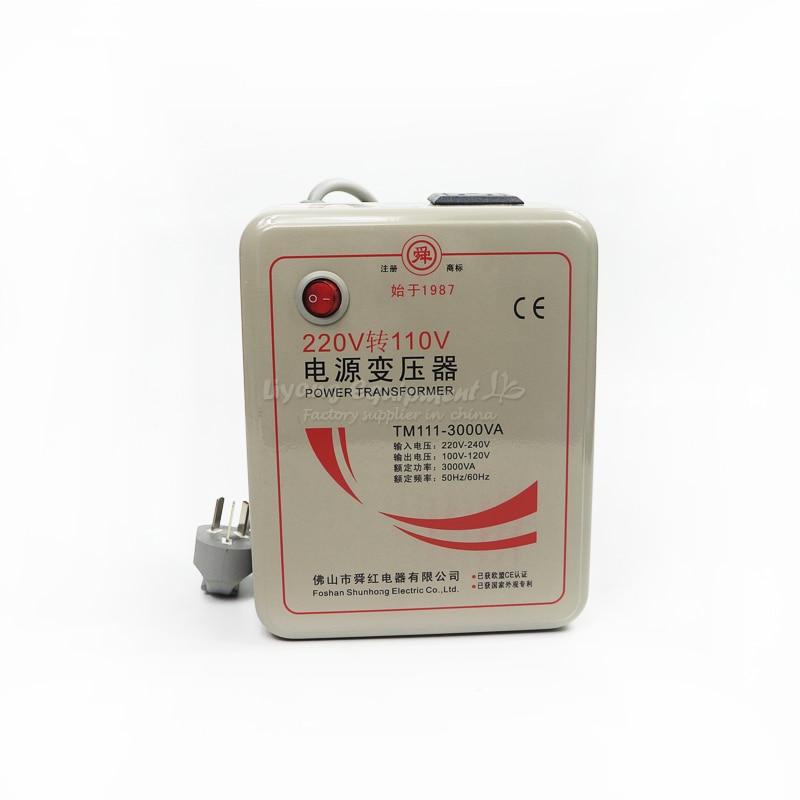3000W transformer 220V to 110V or 110V to 220V voltage converter 1 pc 1500w 1 5kva step down voltage converter transformer 220v 240v to 110v 120v