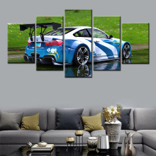 5 Pieces HD Canvas Painting BMW Car Home Wall Art For Living Room Print Modern Decorative