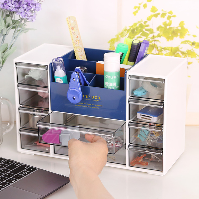 Office Desktop Stationery Storage Box Drawer Cabinets Lockers Desk Management Arm Products