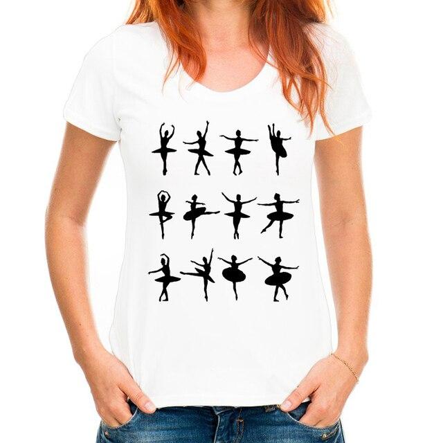 1fbc61be903d 2019 Harajuku Nouvelles femmes de t-shirt De Danse motif imprimé t-shirts  femmes
