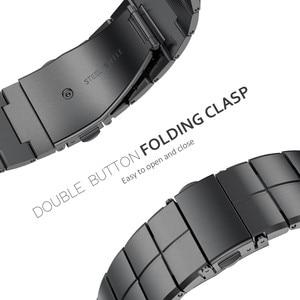 Image 5 - Apple watchband 용 스트랩 38/40mm 42/44mm 스테인레스 스틸 메탈 1 링크 팔찌 smartwatch band for apple watch serise 1 2 3 4 5