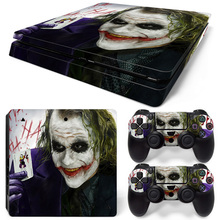 New Joker Skin Decals For Play Station 4 Slim Console Sticker & 2Pcs Controller PS4 Slim S Protective Stickers