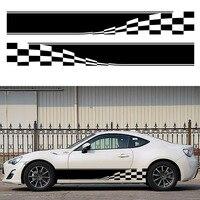 2x Checkered Flag Dynamic Movement To Accelerate Forward Racing Sport Car Sticker Caravan Travel Trailer Campervan