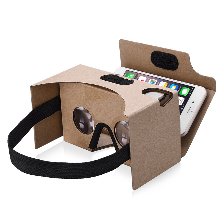 font b VR b font Cardboard V2 0 3D Glasses Box Virtual Reality with Suction