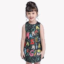 High Luxury 2017 summer Girls Dress Brand Designer Kids Clothes Winter For Baby Girl Princess 3-10Y