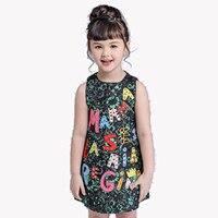 High Luxury 2017 Summer Girls Dress Brand Designer Kids Clothes Winter Kids Clothes For Baby Girl
