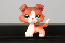 Lovely Pet Collection LPS Figure Toy 1542 Brown Collie Dog Puppy Blue Eyes Nice Gift Kids