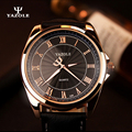 Yazole 2017 mens relojes de lujo superior de la marca para hombre de negocios reloj masculino reloj de cuarzo reloj de cuarzo del relogio reloj masculino de oro un