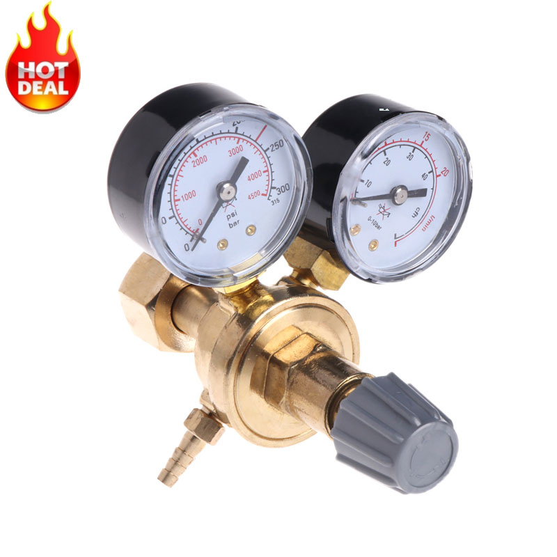 Argon CO2 Gauges Pressure Reducer Mig Flow Meter Control Valve Welding Regulator Drop Shipping Support wx 5032l36 argon co2 pressure meter regulator flow meter regulator mig tig welding weld ac36v heating co2 shielded welding
