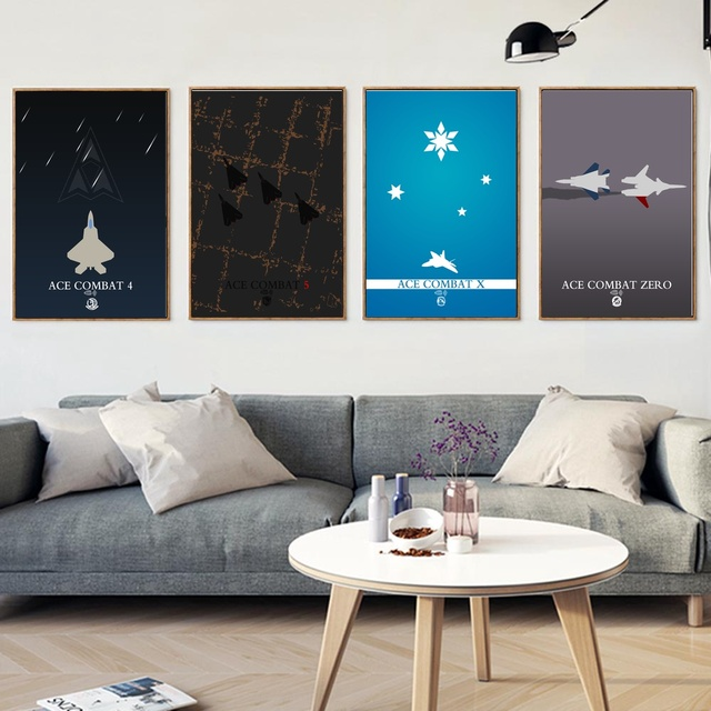 Ace Combat Wall Art Paint Decor Canvas Prints Poster Oil Paintings No Frame