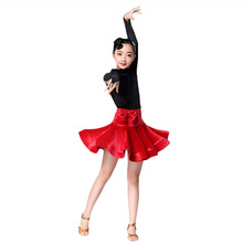Newest children's Latin dance clothing children's Latin Dance Competition Performance Clothing Latin Dance Practice Clothes