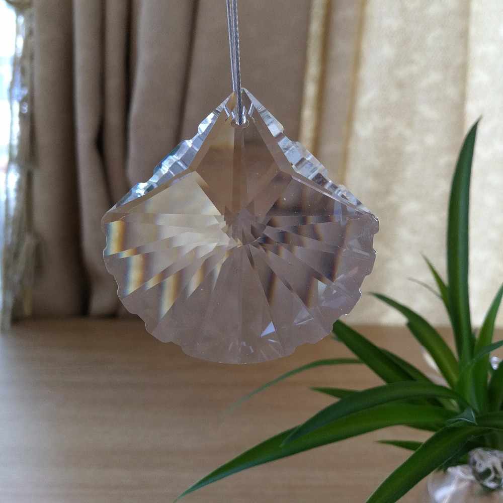 10pcs/lot 58mm ornament crystal prism Chandelier Crystal Prism river mussel Pendant free shipping