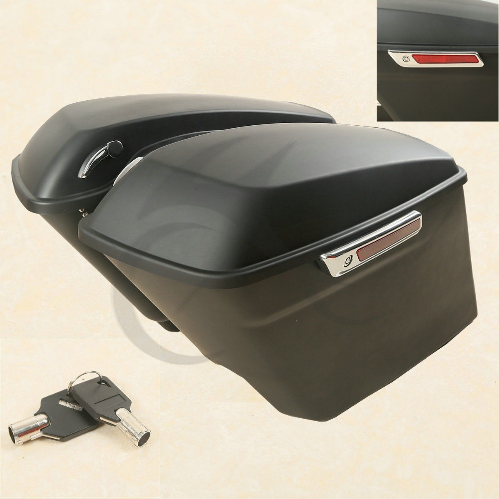 5 Stretched Extended Hard Saddlebags Saddle bags For Harley Touring 2014-2018 Motorcycle rsd motorcycle 5 hole beveled derby cover aluminum for harley touring flh t 2016 2017 for flhtcul and flhtkl 2015 2016 2017