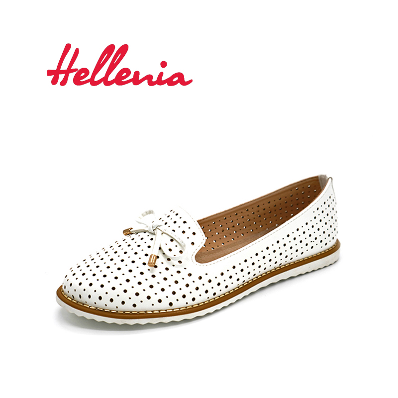 Hellenia Flat Shoes Women Flats ladies Dress Shoes Sneakers white loafers slip -On Casual shoe Womens Shoes casual dress