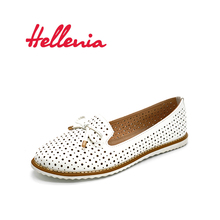 Hellenia flat Spring Women Flats Shoes Footwear women Flat white flat Casual  ladies's footwear  girl slipper informal PU leather-based