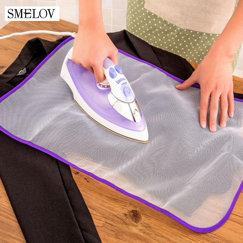Universal 60 40cm Mesh Balance Tabletop Ironing Board Cover Non Slip Cloth Protective Mat Anti Scalding Insulation Pads