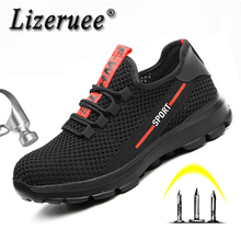 Indestructible Military Men Shoes Safety Lightweight Women Steel Toe Puncture-Proof Work Fat Sneaker F10