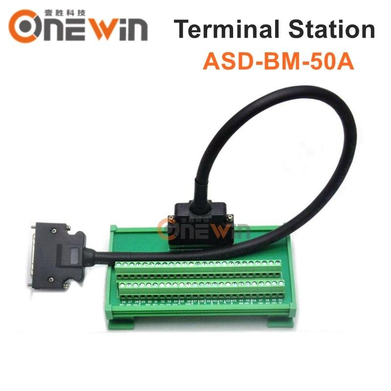 ASDA A2 servo motor fahrer CN1 Terminal station 50pin ASD BM 50A mit 1m kabel-in Motortreiber aus Heimwerkerbedarf bei AliExpress - 11.11_Doppel-11Tag der Singles 1