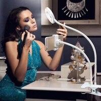 Telefon Tutucu Özçekim Halka Işık Cep Klip Güzellik Braketi Danışma Lambası LED Işık
