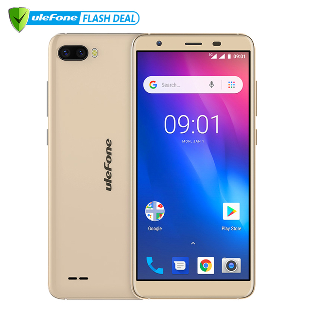 Ulefone S1 1GB+8GB Smartphone 5.5 inch Android Go edition Dual Camera 3G Face Unlock mobile phone