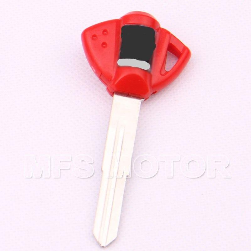 Motorcycle 5Pcs Red Blank Key Uncut For Suzuki GSXR600/750 K1 GSX-R1000 K3 K5 TL1000R