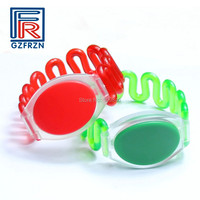 100pcs/lot 13.56MHz NFC plastic RFID wristband with F08 S50 chip for Sauna Spa Resort hotel swimming pool waterpark