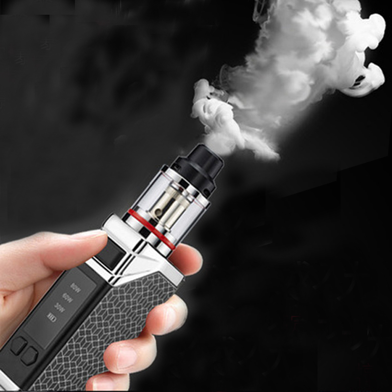 HB Original 80w caixa mod kit 2200mah construir-na bateria com 0.5ohm 2.5ml tanque vapor kit kit caneta vape cigarro eletrônico
