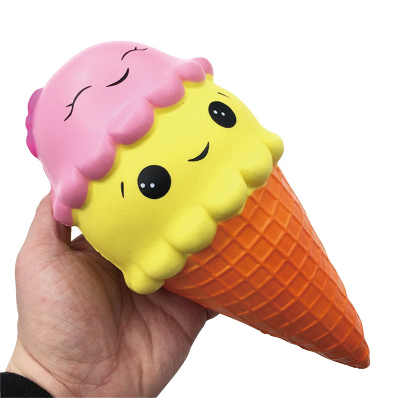 Cute Gift Exquisite Fun Kawaii Soft Jumbo Squishy Ice Cream Scented Squishy Charm Slow Rising Simulation Kid Toy Relieves Stress