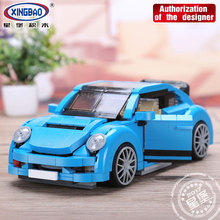 Xingbao 03015 944Pcs Creative MOC Technic Car Series The Blue Car Set Building Blocks Classic Car Model Bricks Gifts Juguetes цена