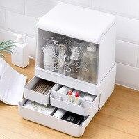 Desktop drawer cosmetic storage box flip waterproof dustproof ABS lipstick finishing box dresser storage box LM01141643