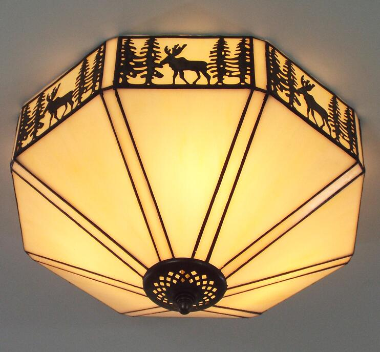 Tiffany stained glass ceiling lamps in rural southeastern United States bar study bedroom ceiling lamp DF37