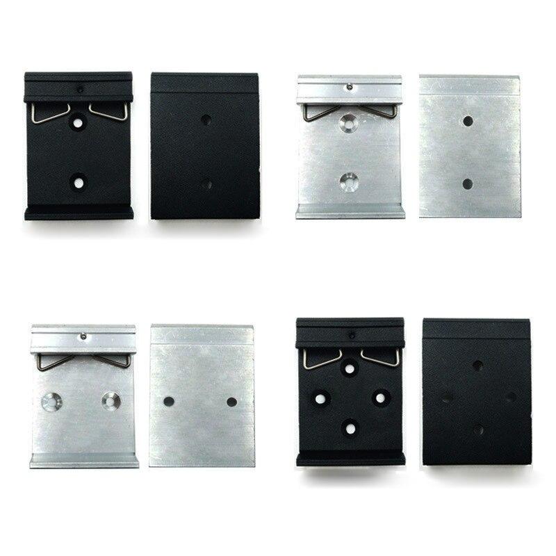 Простая крепежная стойка с крепежными отверстиями, 35 мм, с направляющей на DIN, из алюминиевого сплава
