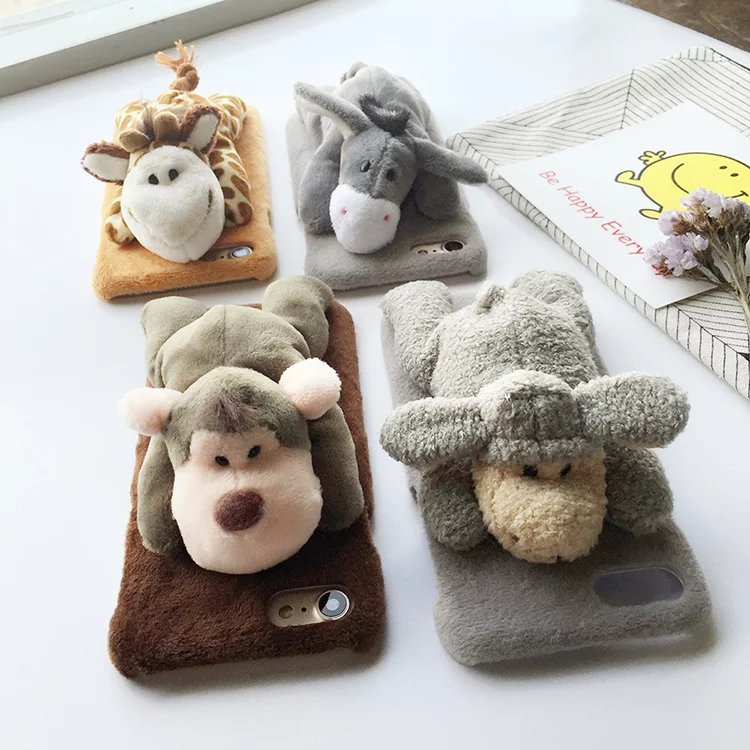 iPhone 6 and 6s Cute Plush Animal Dolls