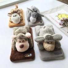 3D мультфильм симпатичные pet Плюшевые куклы игрушки модель DIY животных осел овец обезьяна жираф комплект чехол для iphone 6 6 s 6 s 7 плюс крышка случаев