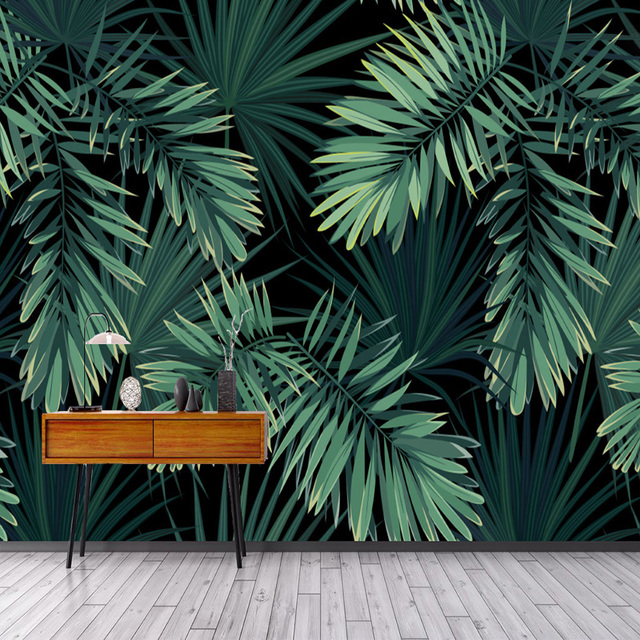 Custom 3D Mural Wallpaper Modern Vintage Forest Leaf Photo Wall Living Room TV Sofa Restaurant