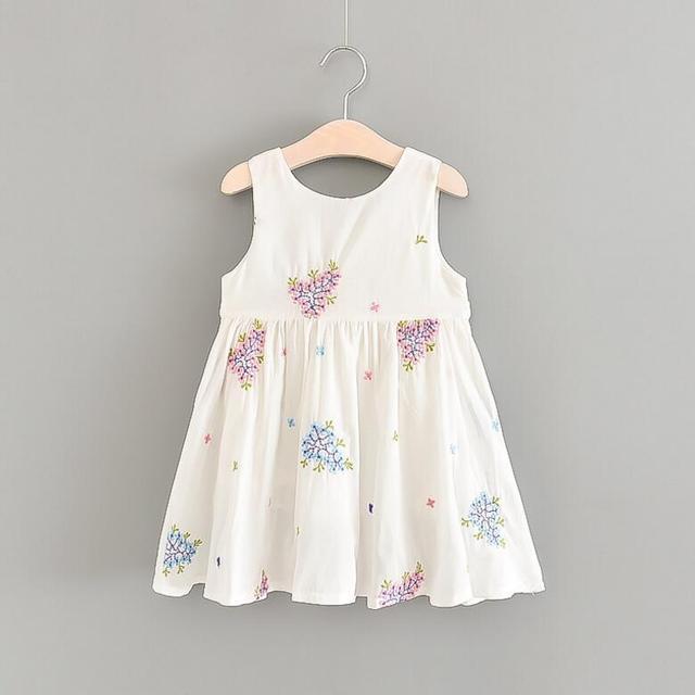 acef04919 New Baby Girls Cotton Printed Vest Dresses