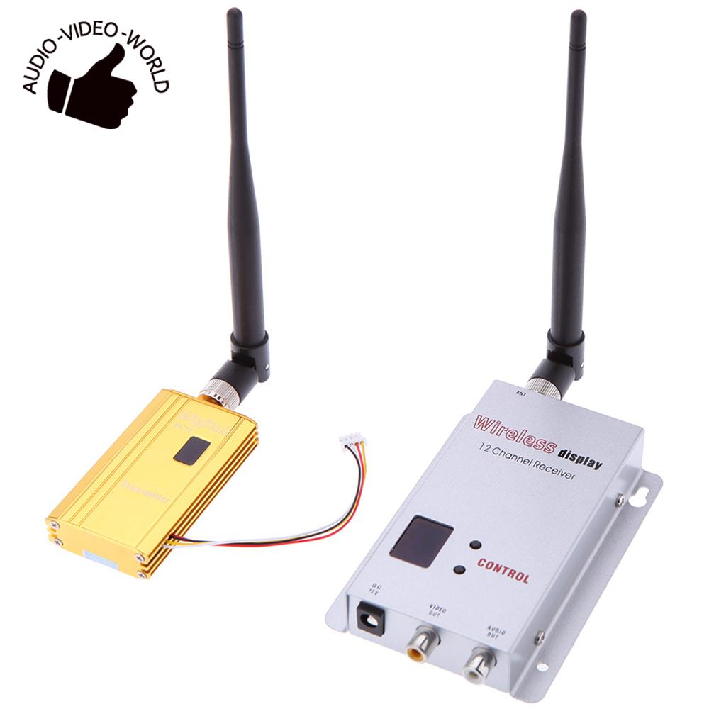 1500mW 1 2G Wireless 8CH Transmitter 12CH Receiver Digital Camera VCD DVD Players Audio Video Transmission
