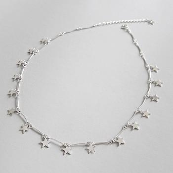 3fc9b4377614 Collar de gargantilla de Plata de Ley 925 Real accesorios de mujer ...