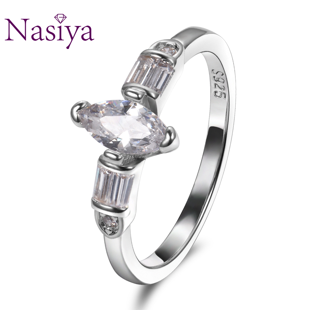 Nasiya Top Sale 925 Silver Engagement Rings Trendy Mariquesa Zircon For Women Fine Jewelry Anniversary Wedding Gift Wholesale