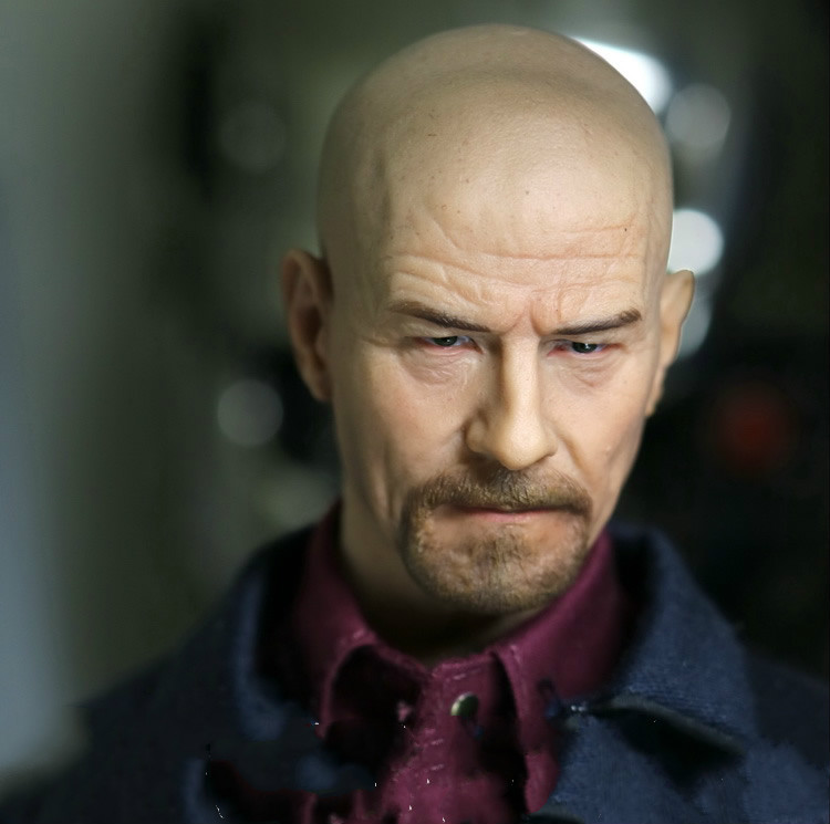 1//6 Scale Breaking Bad Walter White Bryan Cranston Head Sculpt