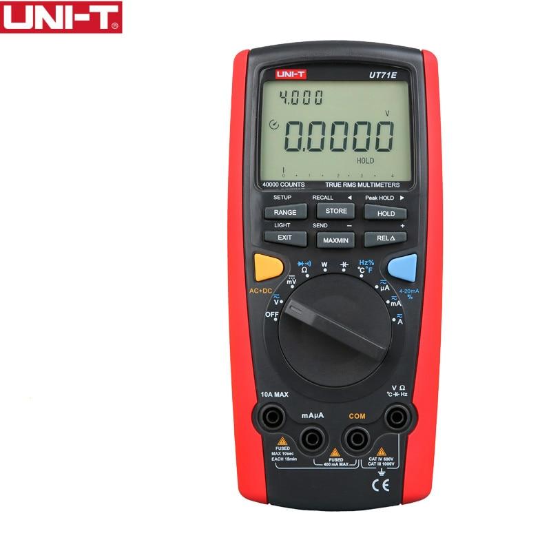 цена на UNI-T UT71E Intelligent Digital Volt Amp Ohm Capacitance meter thermometer with USB Temperature