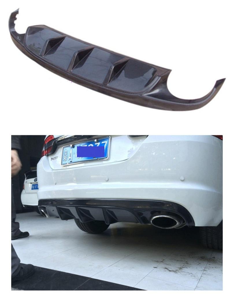 Carbon Fiber Rear Lip Spoiler For Jaguar XF 2012.2013.2014.2015 High Quality Car Bumper Diffuser Auto Accessories