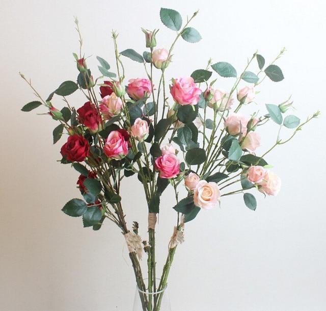 Wholesale 150pcs 3stem 15 flowersset 90cm silk rose spray flower wholesale 150pcs 3stem 15 flowersset 90cm silk rose spray flower bundle rose mightylinksfo