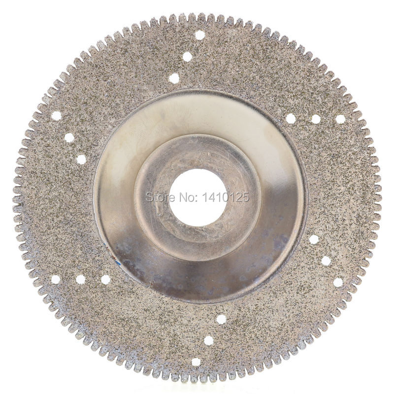 100 mm 4 inch Diamond Coated Grinding Disc Wheel Serrated For Angle Grinder Grit 60 Arbor Hole 16 mm 5/8 Cutting Glass Stone