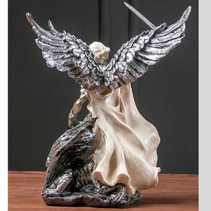 Греческая мифологическая фигура смерти Зевс Кентавр Посейдон смола статуя украшения творческий ретро гостиная украшения X2092